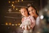 Новогодняя фотосессия. Мама с дочкой. Семейный фотограф в Риге, Надя Рубина.