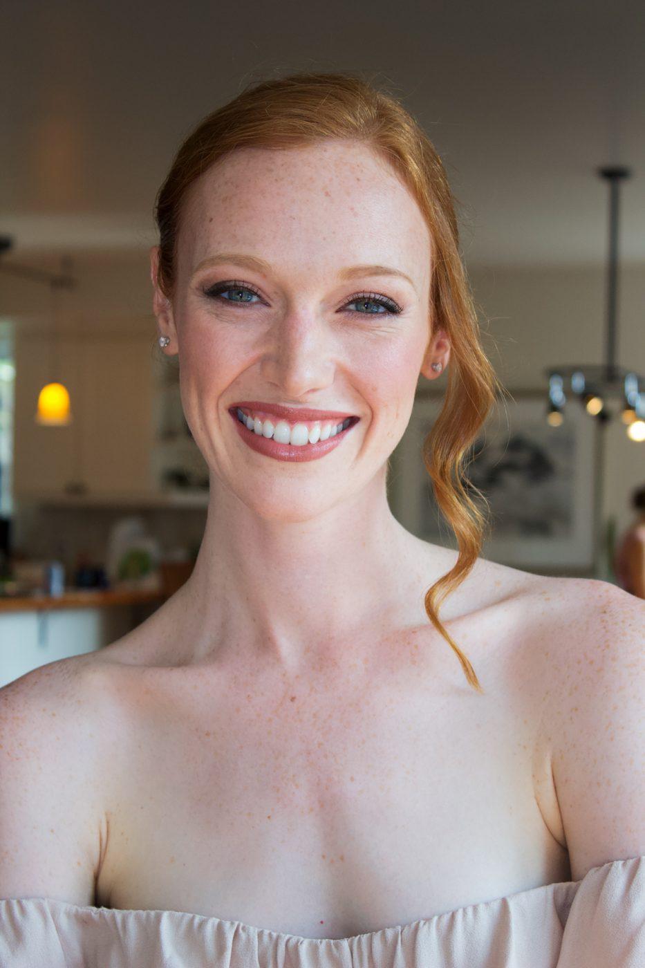 bridal makeup look of Chantal Stafford-Abbott