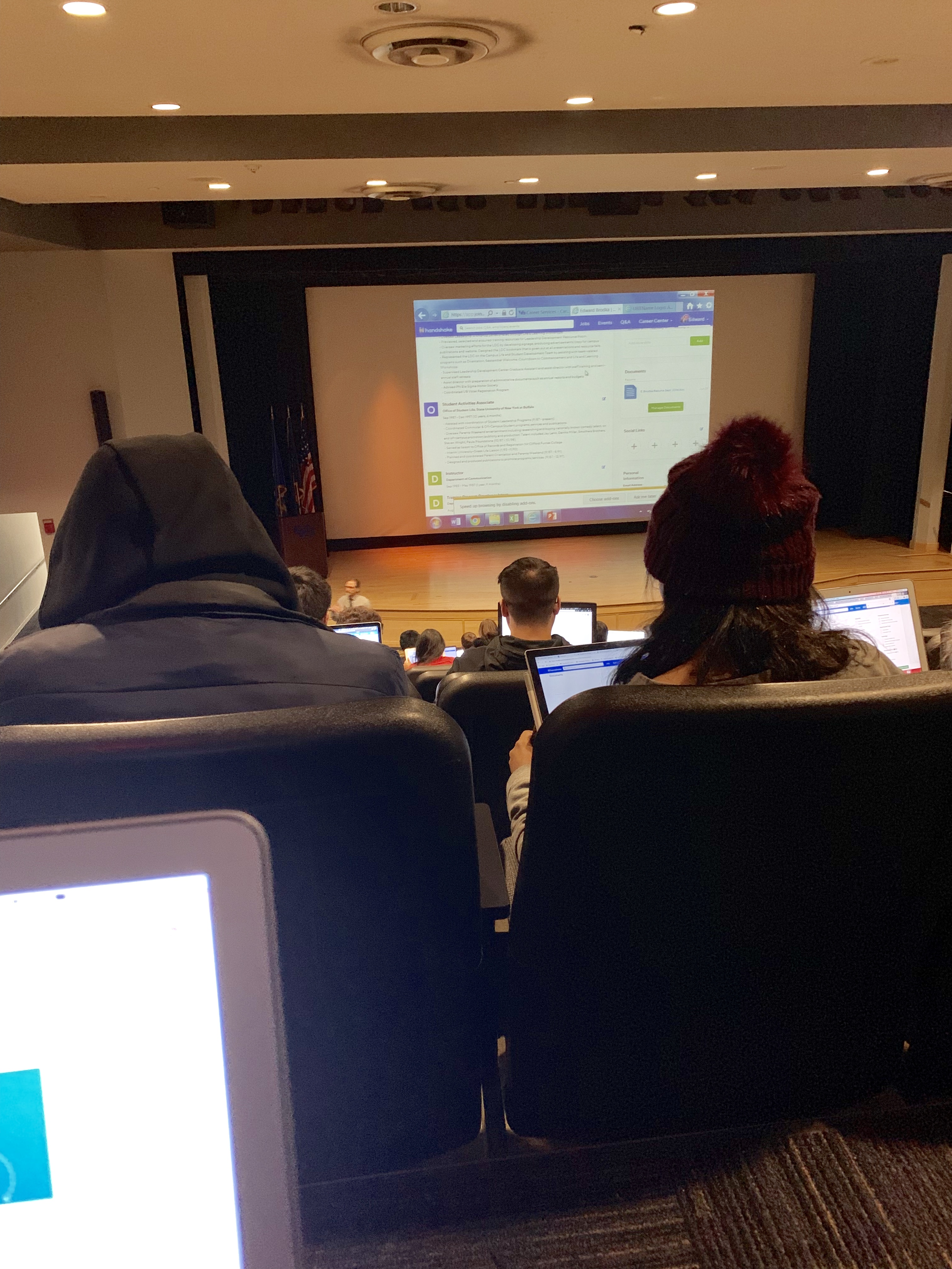 Job And Career Services Workshop At The University At