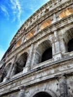 Das Kolosseum, größtes im antiken Rom erbautes Amphitheater. Acht Jahre Bauzeit, 400 Jahre im Betrieb.