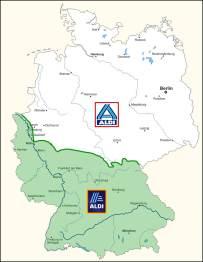 2000 Jahre Deutsche Teilung: Aldi Nord und Aldi Süd
