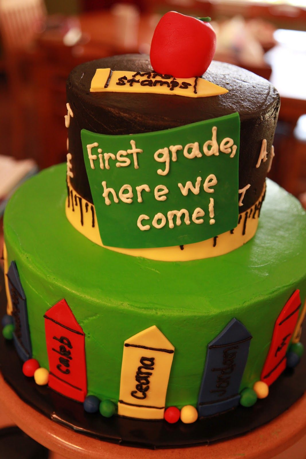 First Grade Here We Come Cake
