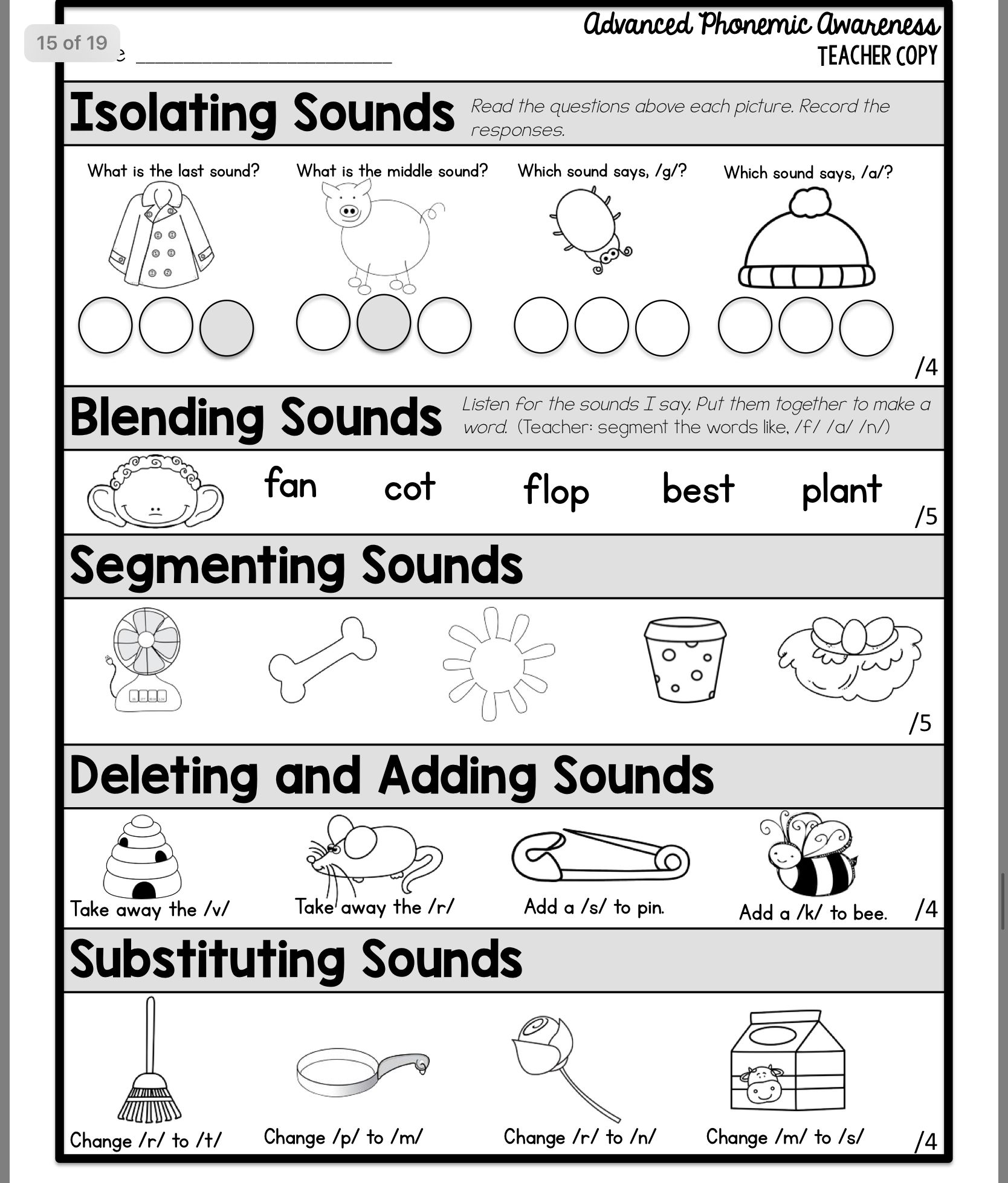Phonological Amp Phonemic Awareness Worksheets For