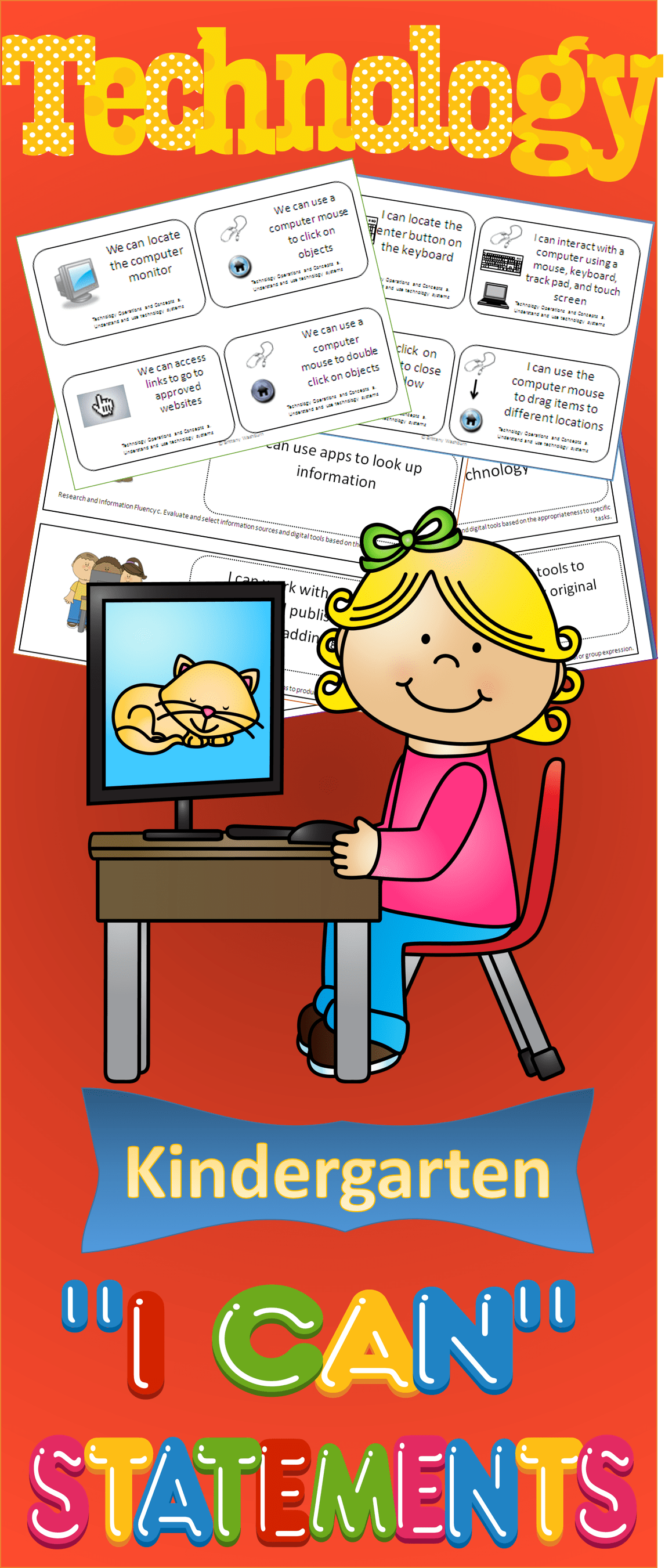 Technology I Can Statements For The Kindergarten