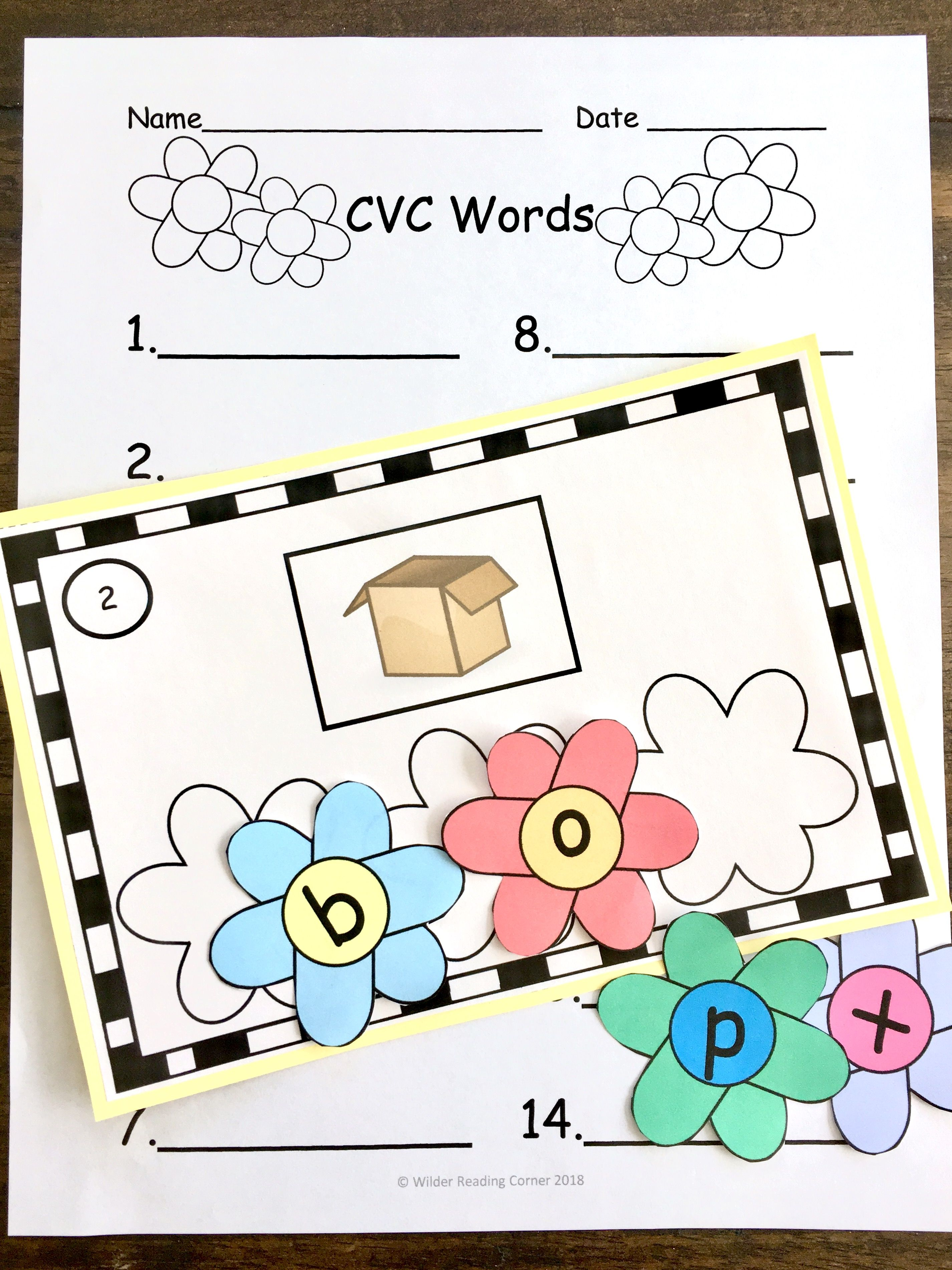 Spring Build Cvc Words Kindergarten 1st Literacy Center