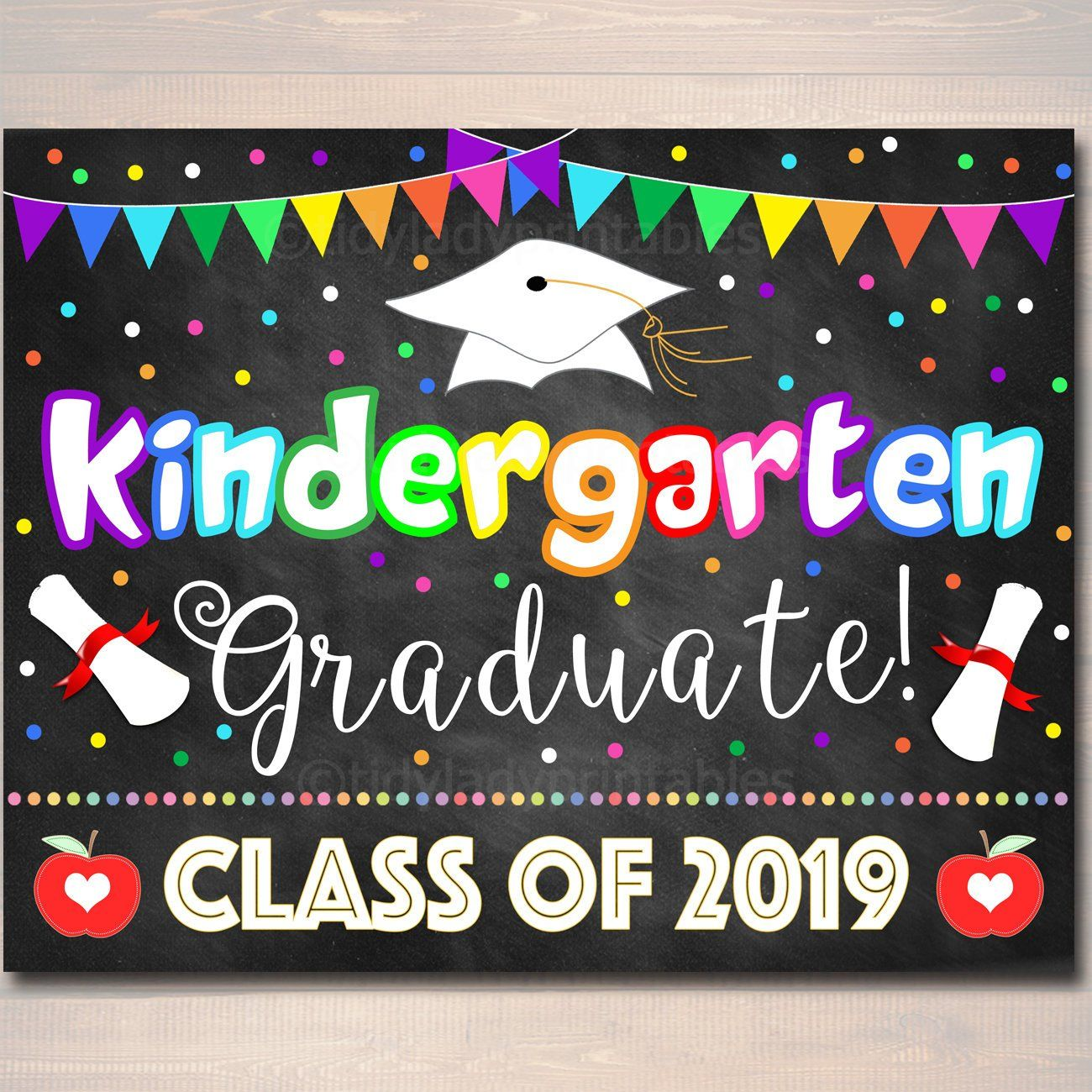 Kindergarten Graduation Photo Prop End Of School