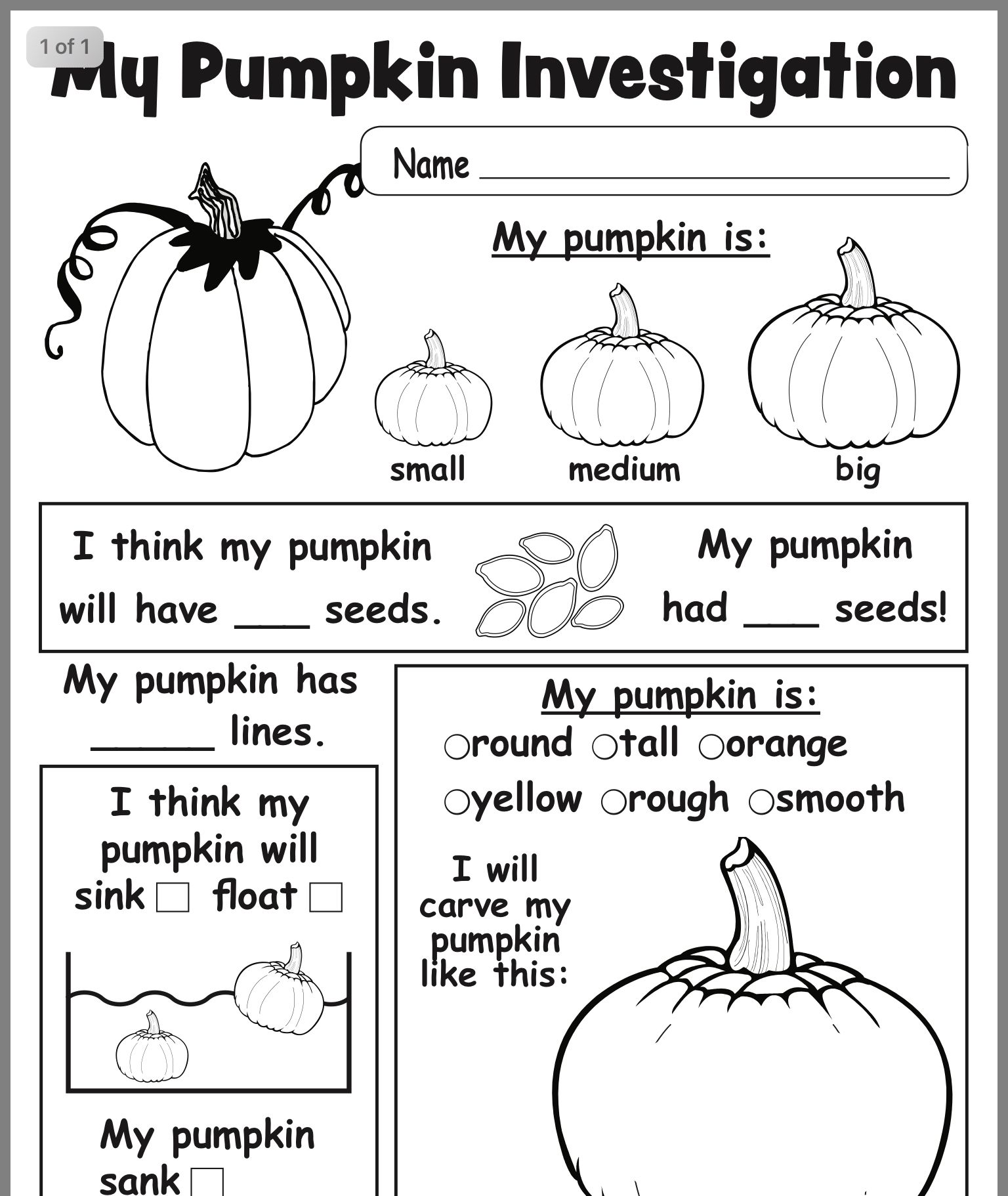 14 Best Autumn Worksheets For Kindergarten Images On All