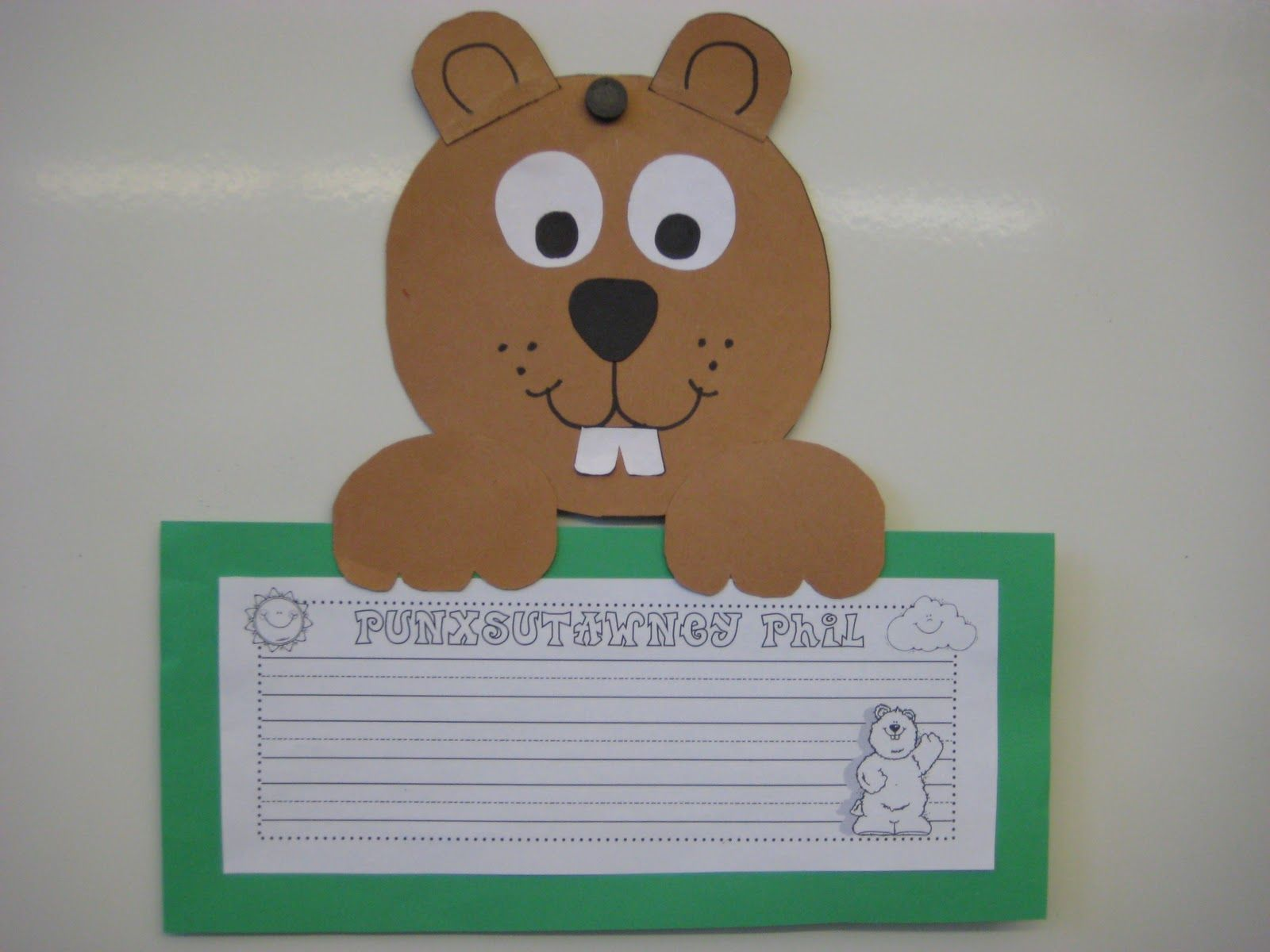 Free Groundhog Pattern