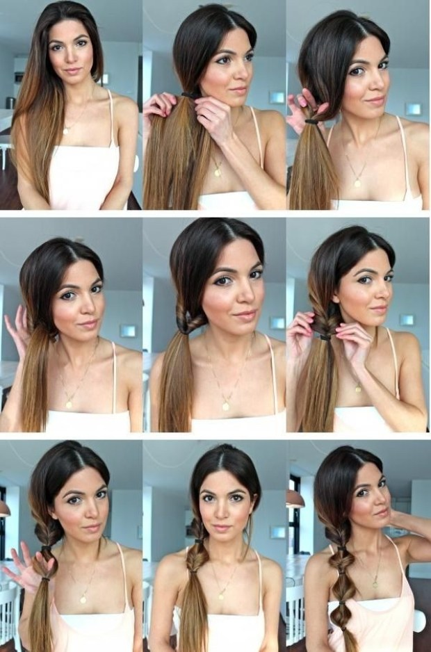 Twist-Ponytail-Hairstyle-Tutorial-Side-Ponytail-Hair-Styles-for-Girls