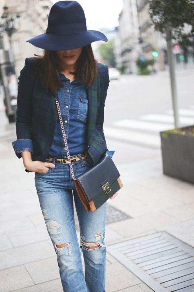 zerrissene-jeans-outfit-jeans-hemd-sakko-hut