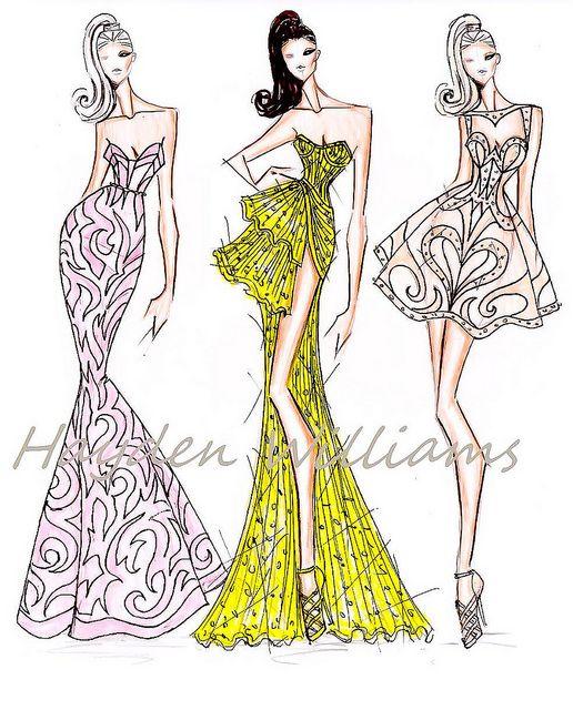 Модели платьев для эскизов