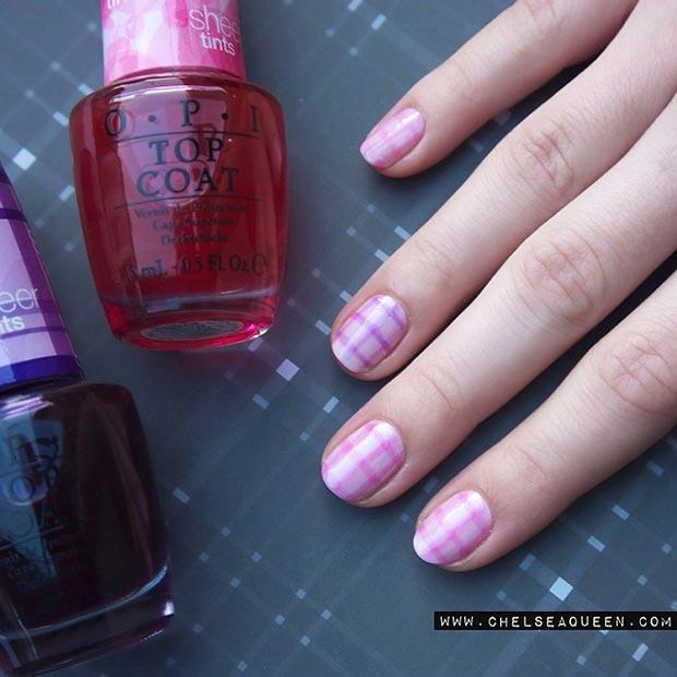 Gingham-Pattern-Nail-Design-for-Short-Nails