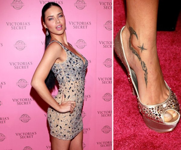 Adriana-Lima-has-tribal-design-shooting-star-tattooed