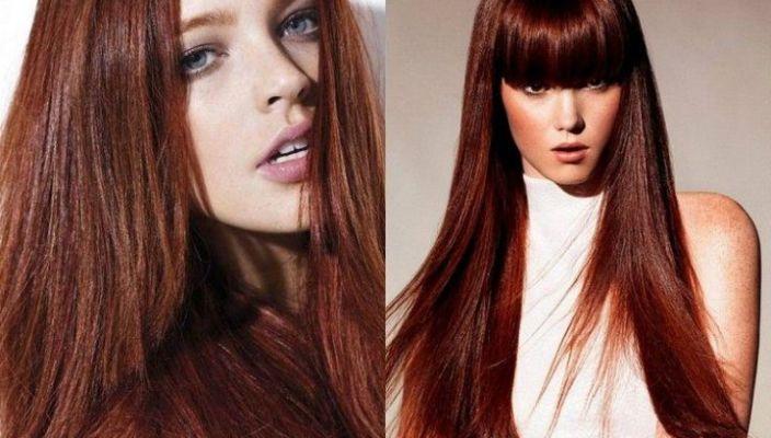 красное дерево фото волосы