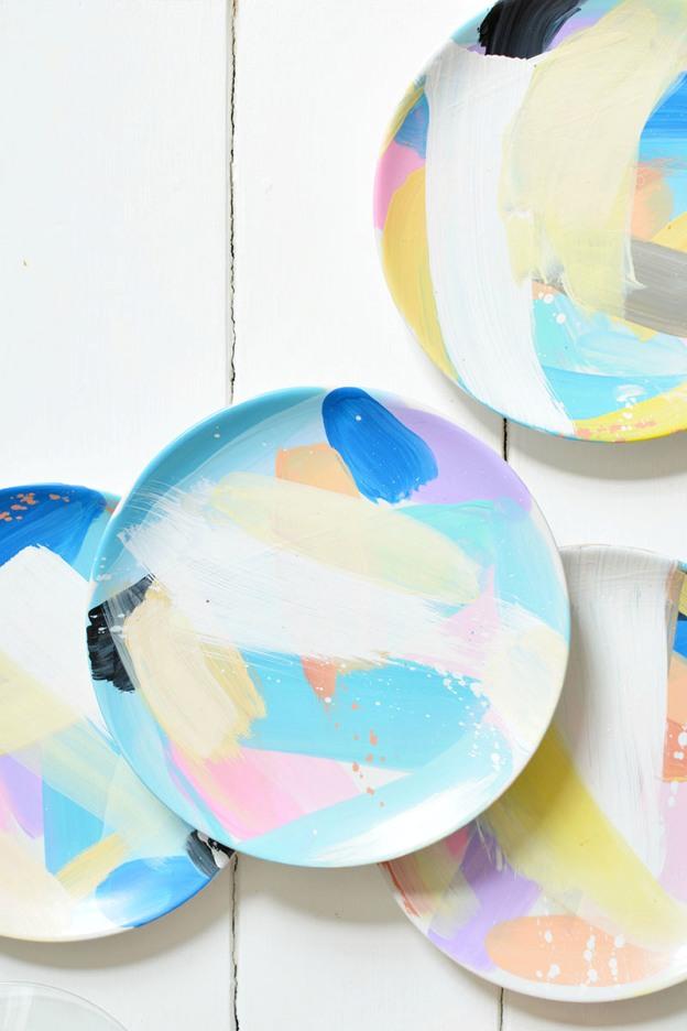 handpainted plate diy crafts