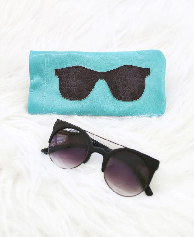 Δερμάτινα γυαλιά ηλίου - κάτοχος-DIY1