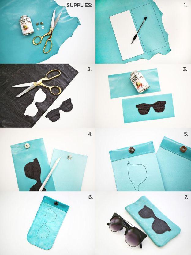 Δερμάτινα-γυαλιά ηλίου-κάτοχος-DIY2