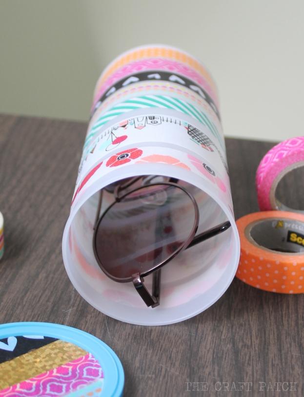 washi tape sunglasses holder 7