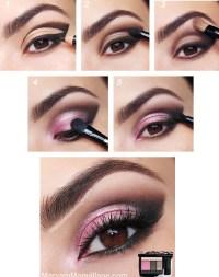 макияж для карих глаз розовый