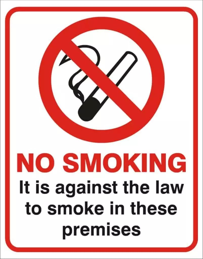 no-smoking-it-is-against-the-law-to-smoke-in-these-premises-sign