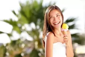 Woman eating ice cream NAET Dubai