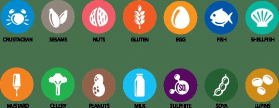 skin allergies treatment icons