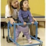 child working on walking is physical therapy