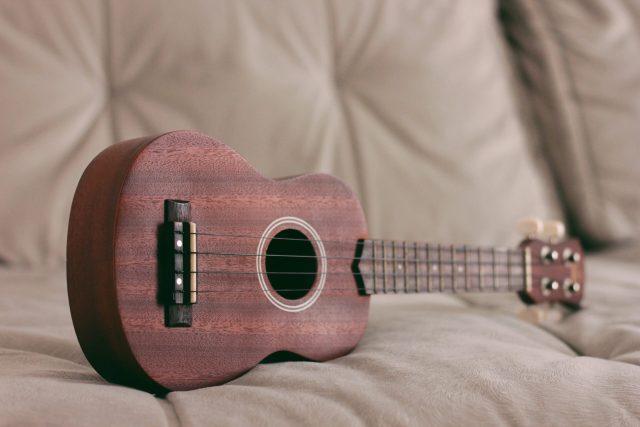 kahverengi ukulele
