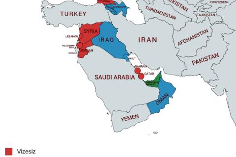 Batı Asya Vizesiz Ülkeler