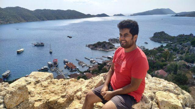 simena kalesi deniz manzarası