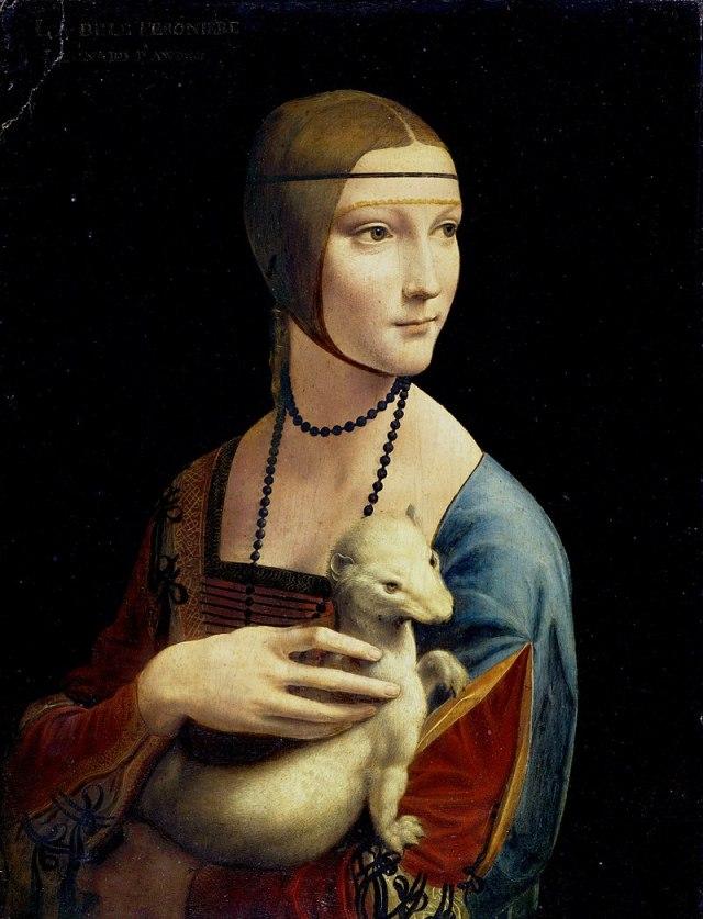 Davinci Ermineli Kadın tablosu