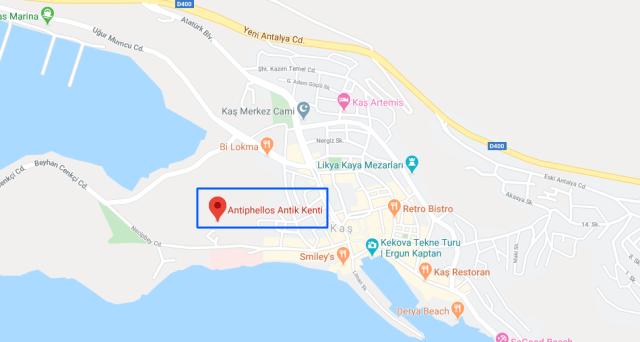 antiphellos antik kenti google harita