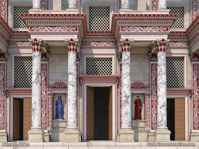 celcus kütüphanesi kadın heykeller