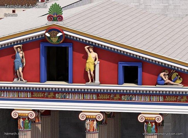 efes antik kenti artemis tapınağı detaylı çizimler