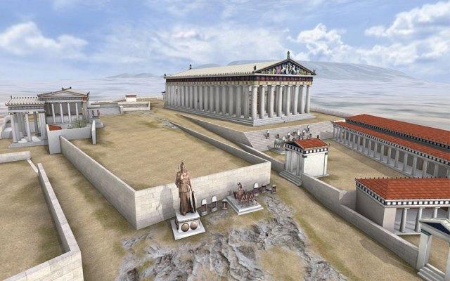 Atina Akropolisi Partenon Tapınağı eski