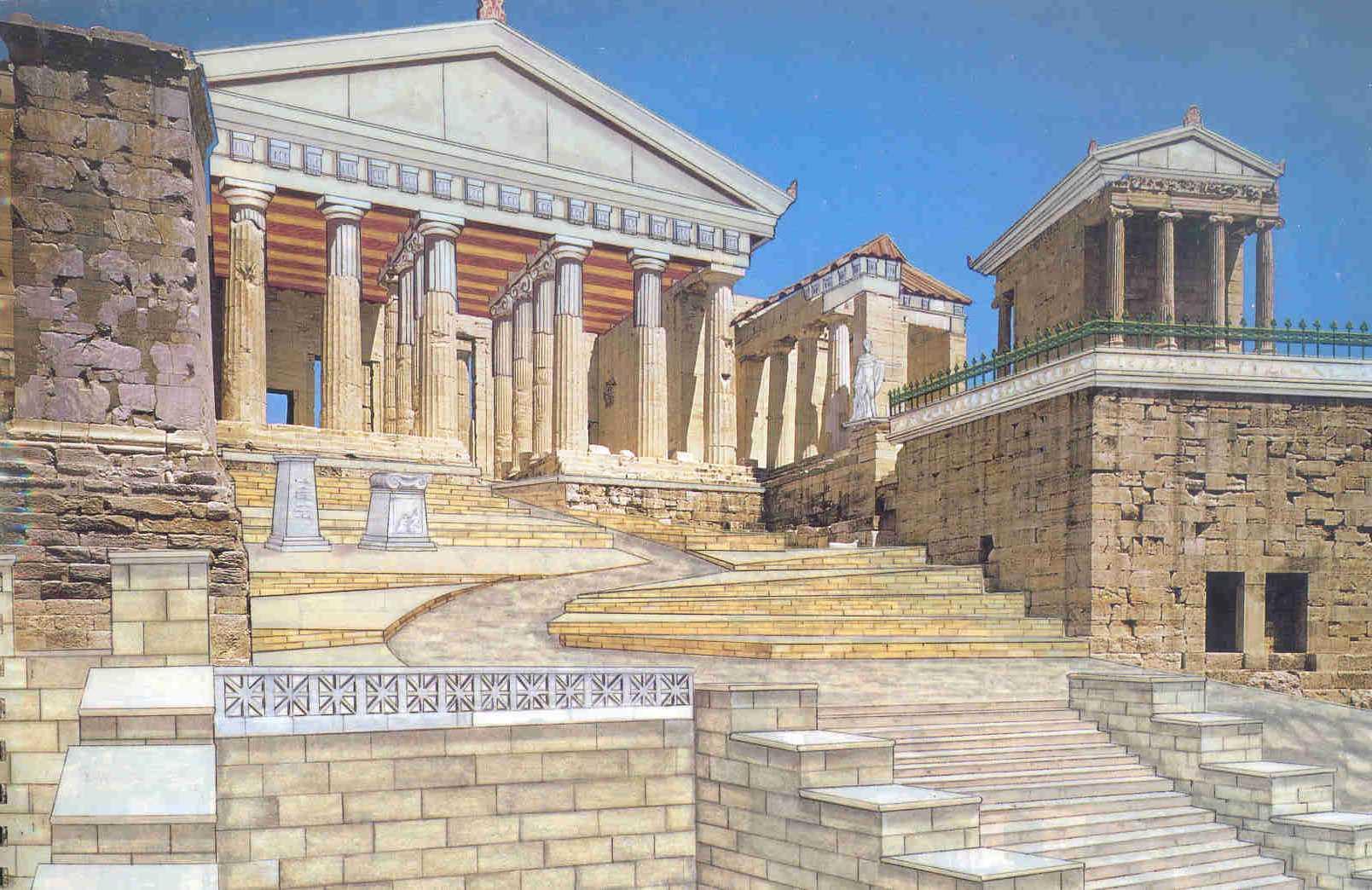 atina akropolisi propylon