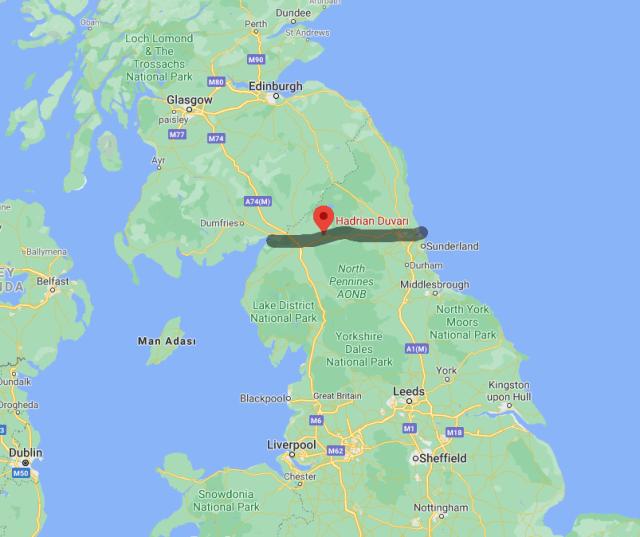 Hadrian Duvarı google maps