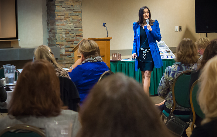 Nafissa Shireen Speaking To Group Of Women Business Owners