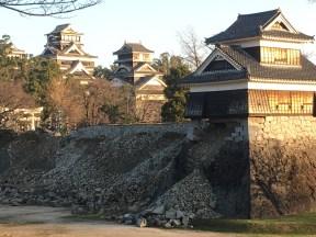 Rubble at Kumamoto Castle