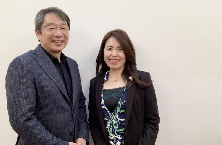 竹内嘉浩代表と濱崎明子カウンセラー