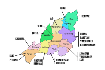 Naga Tribes Primary Districts
