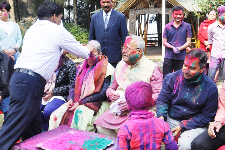 Holi celebrated at Raj Bhavan