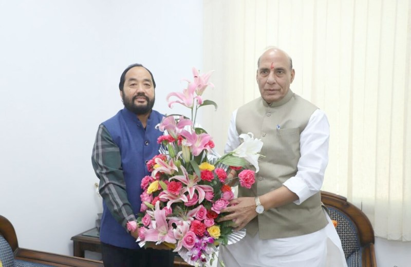Patton calls on Rajnath Singh