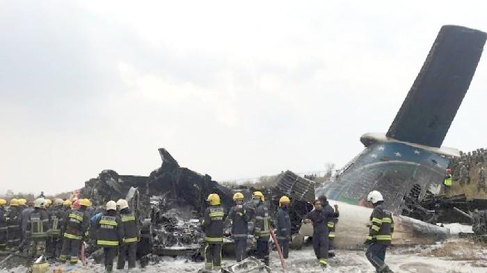 Plane crashes at Kathmandu airport, 49 killed