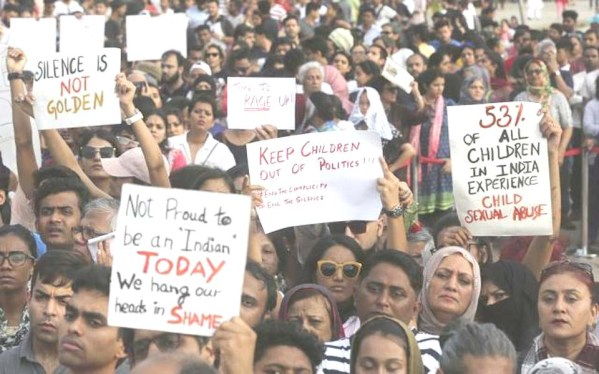 Sunday of protests as thousands across India demand  justice in Kathua and Unnao rape cases