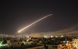 US, France, Britain launch strikes on Syria