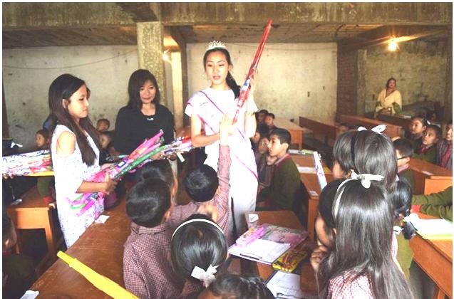 Femina Miss India Nagaland visits school