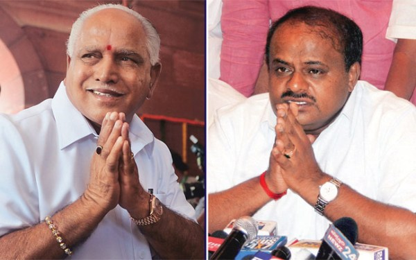 Facing defeat, Yeddyurappa quits; Kumaraswamy to be sworn-in on Monday