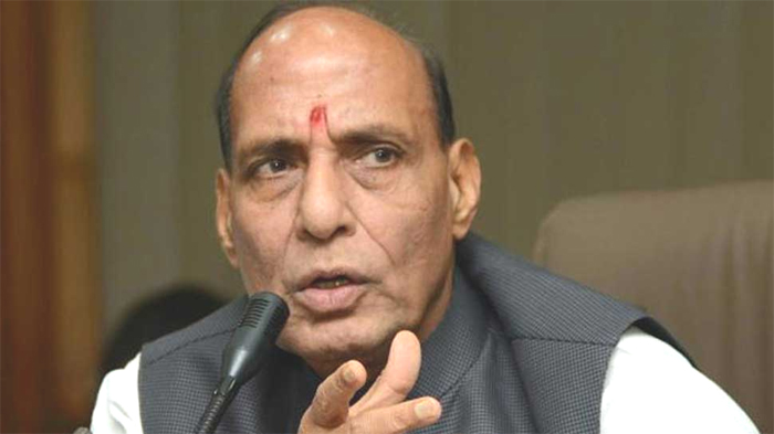 Congress responsible for lowering  political discourse: Rajnath Singh