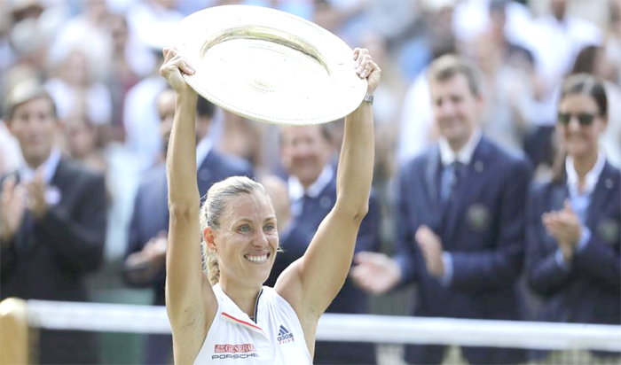 Angelique Kerber stuns Serena Williams to  win maiden Wimbledon title